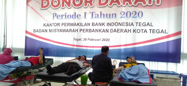 127 Pendonor Ramaikan Donor Darah Bank Indonesia Tegal