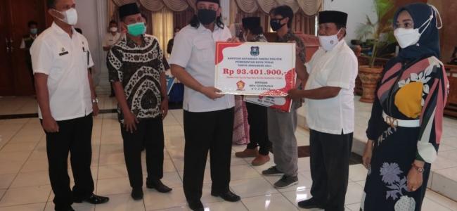 Partai Pemenang Pileg 2019 DPRD Kota Tegal, Dapat Bantuan Keuangan