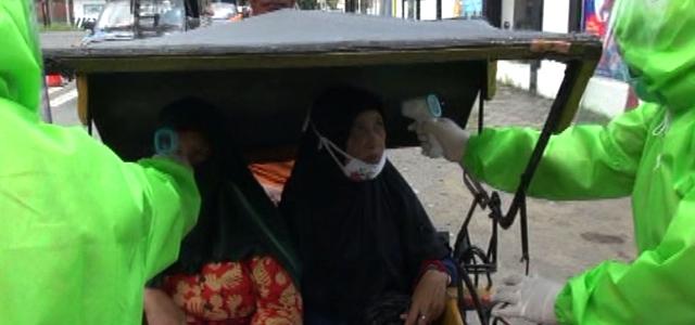 Cegah Covid-19, Orang Masuk Kota Tegal Mulai di Cek Tim Medis