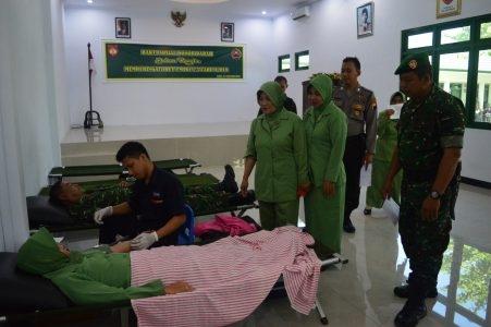 HUT TNI Ke-3 : Kodim 0712/Tegal Gelar Donor Darah