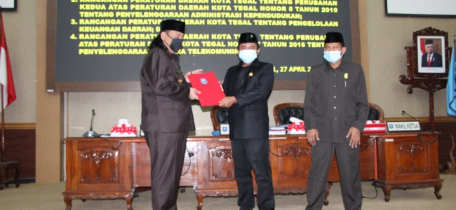 DPRD Kota Tegal Setujui Empat Raperda
