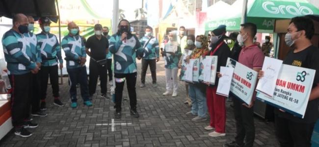 Ganjar dan Walikota Ikuti Gowes Charity Dalam HUT ke – 58 Tahun Bank Jateng
