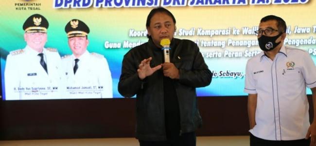 Berhasil Menjadi Zona Hijau, Kota Tegal Jadi Rujukan Komisi A DPRD DKI Jakarta Tangani Covid-19.