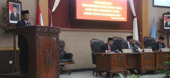 Tiga Pokja DPRD Kota Tegal Setujui LKPJ Walikota Tegal