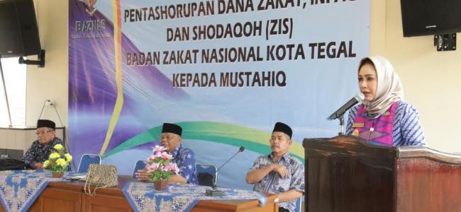 Giliran Mustahik Kecamatan Margadana Mendapat Paket Sembako