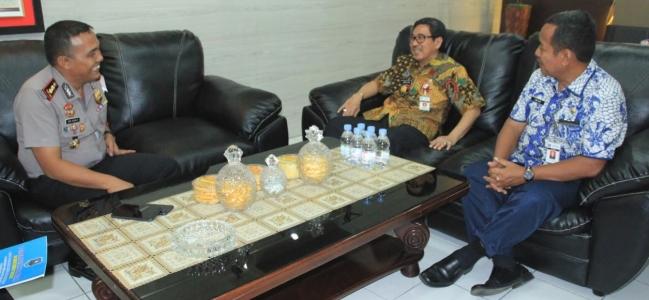Hari Pertama Kerja PJS. Wali Kota, Silaturahmi ke Forkopimda