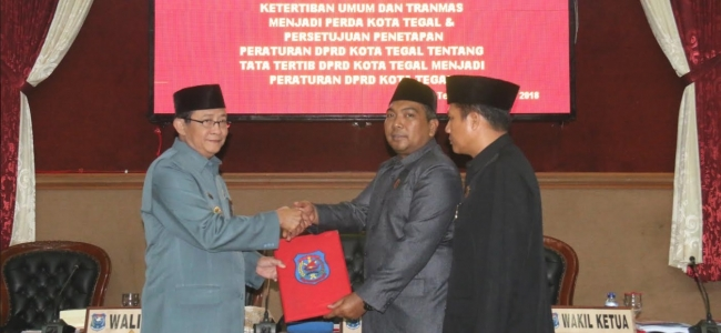 DPRD Kota Tegal Tetapkan Perda Ketertiban Umum